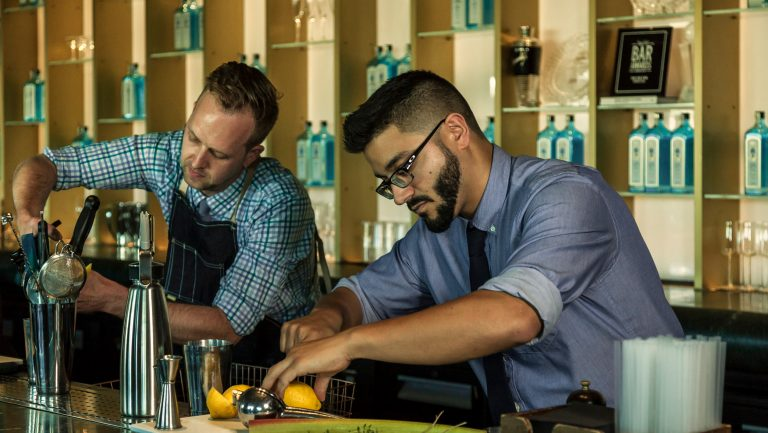 Bartenders competing in most imaginative bartender competition
