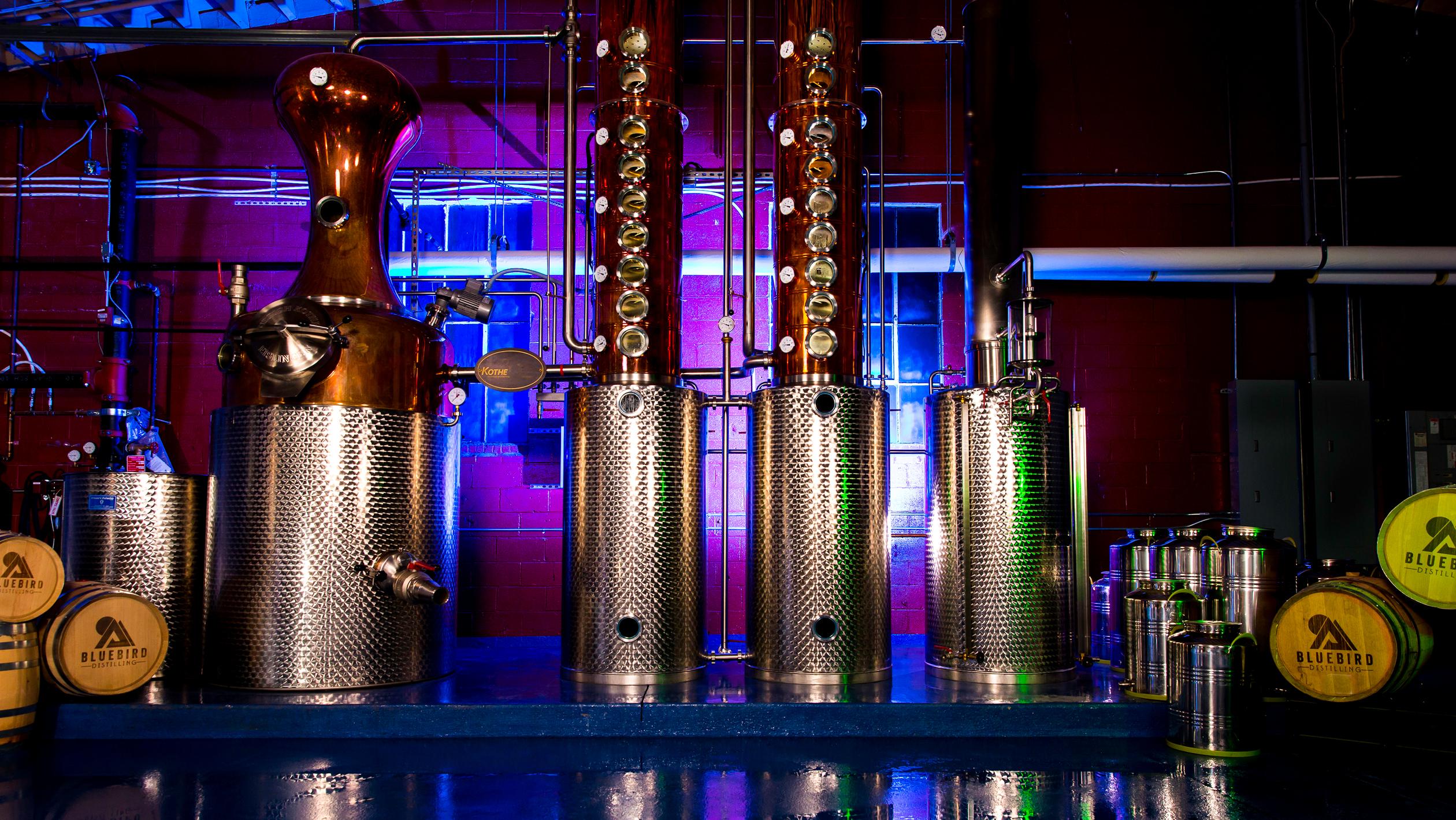 Bluebird Distilling interior