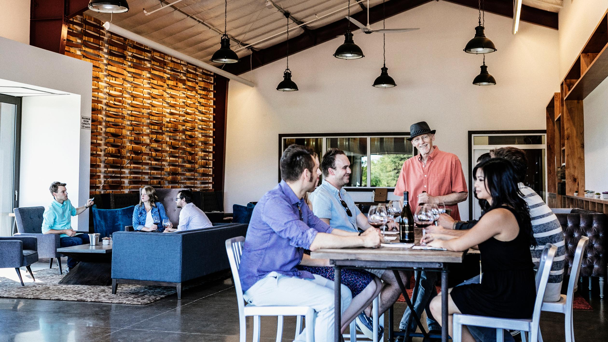 Inside Emeritus Vineyards Tasting Room