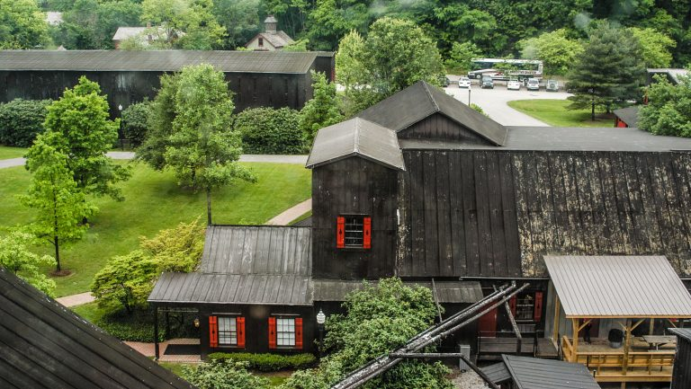 aerial view of mMaker's Mark distillery