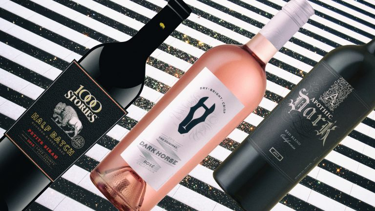 photo illustration of wines on a background