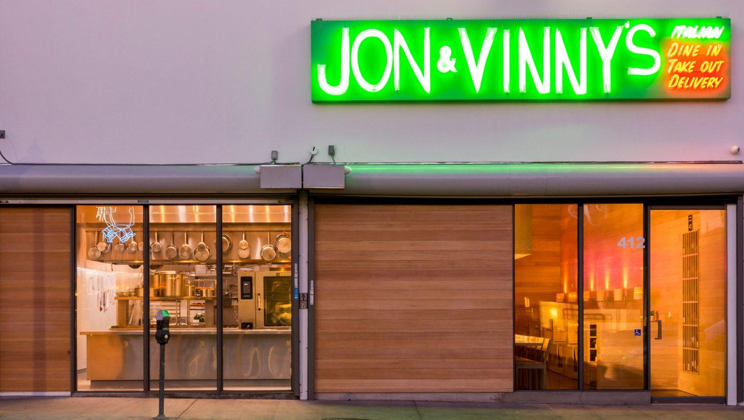 Exterior of Jon + Vinny's