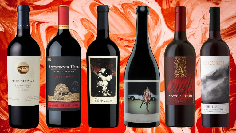 collage of red wines