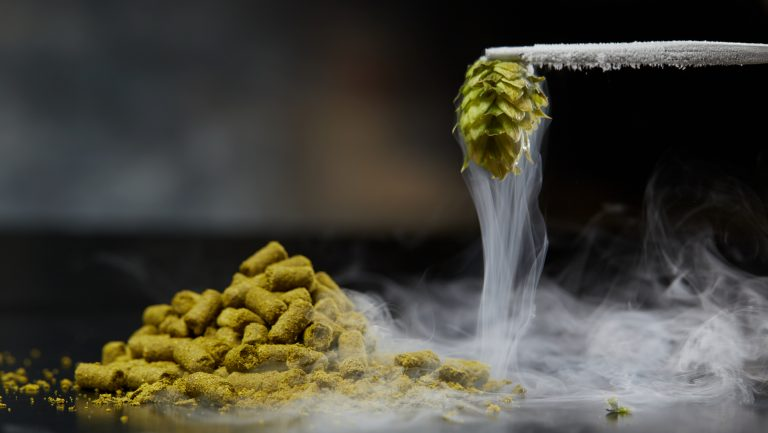cryogenically frozen hops