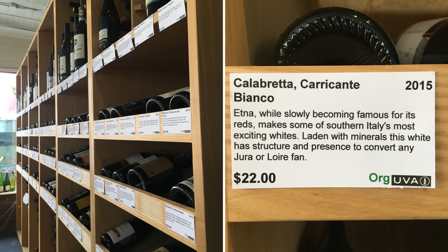 Uva Wines & Spirits shelf talkers