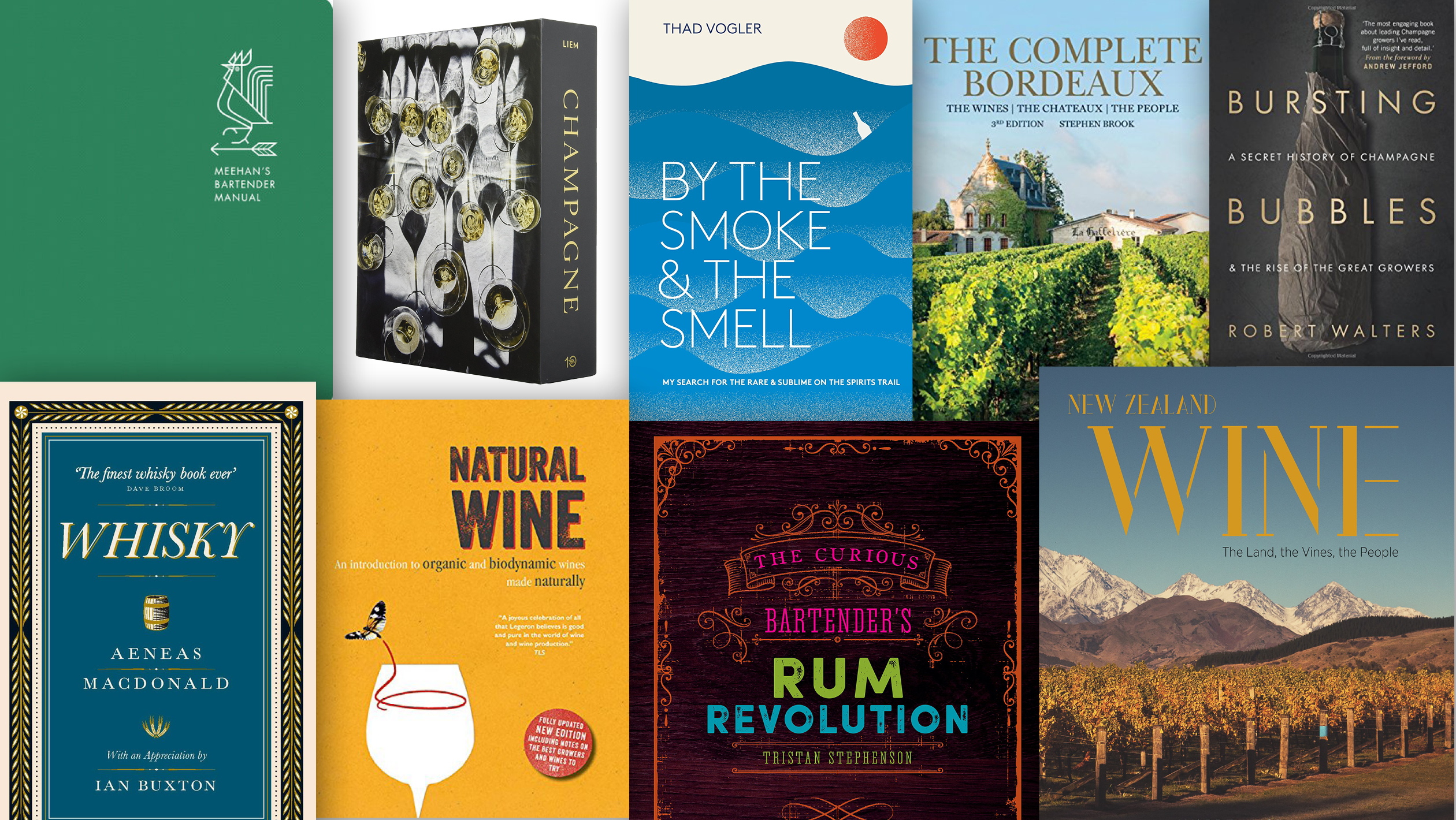 Book Cover Collage Quest ~ Must read beverage books for drinks industry pros sevenfifty daily
