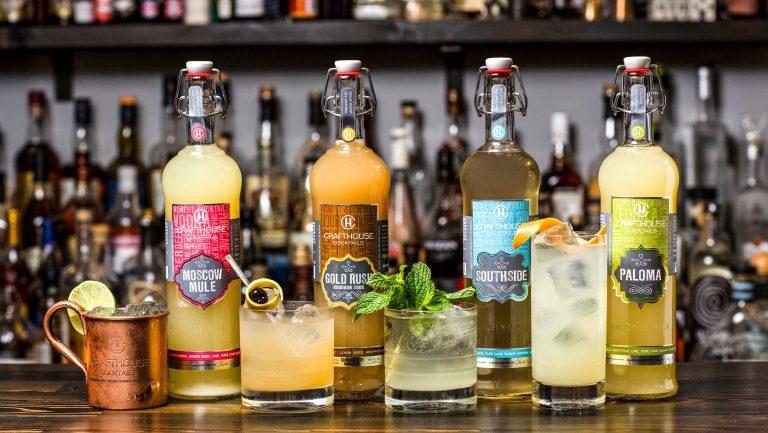 bottles of cocktails