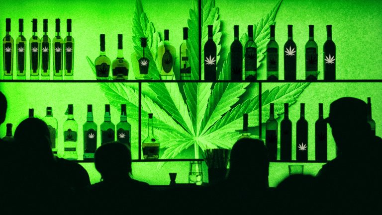 Cannabis drinks in bars