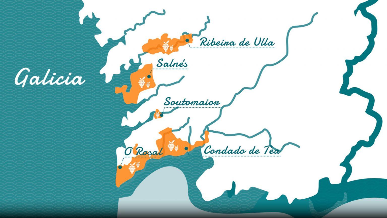 Map of Rias Baixas